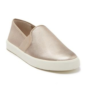 NWB Vince Preston Gold Metallic Slip On Sneakers